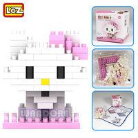 Mimmy Pink Cat Lovely Girl LOZ Diamond Nano Mini Building Blocks Enlighten Brick