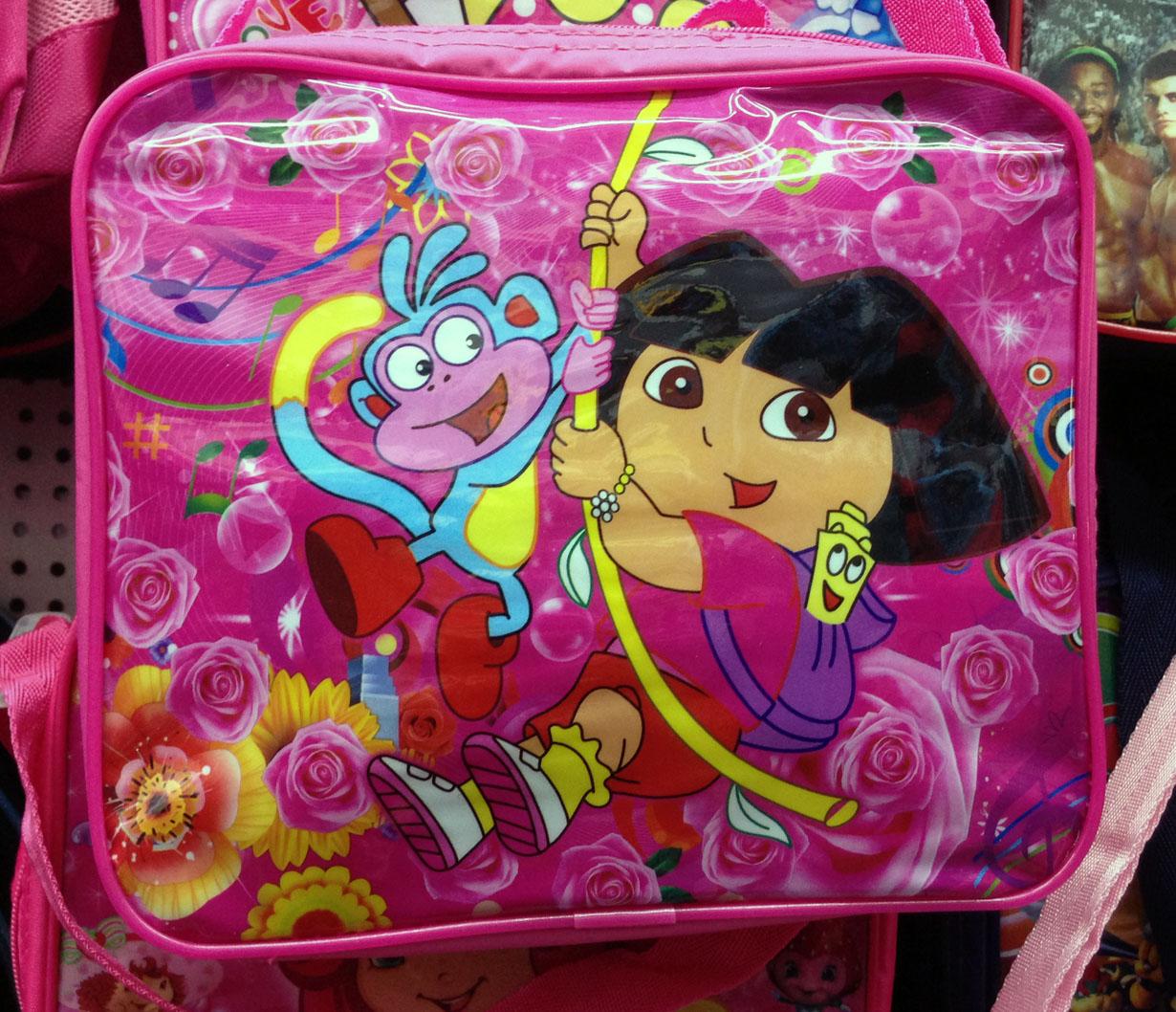 Child book dora meal package shoulder bag messenger bag shoulder bag casual bag cartoon dora 24 20cm(China (Mainland))