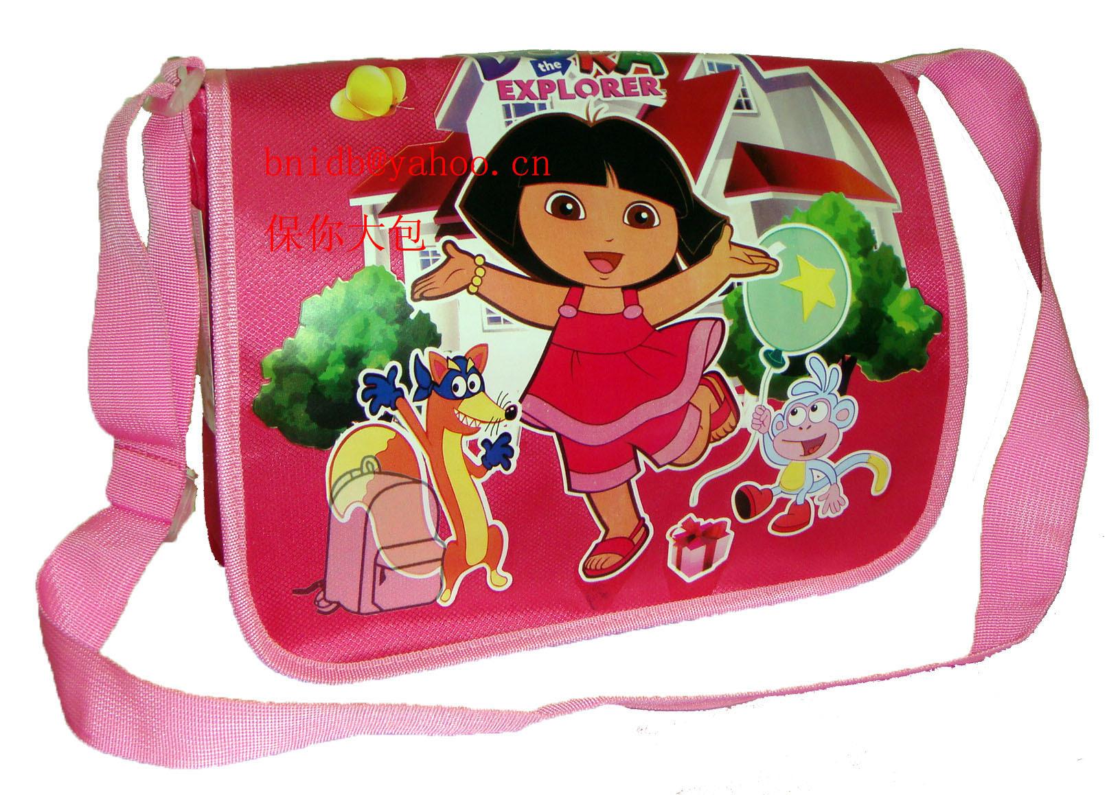 Dora dora one shoulder school bag girls messenger bag casual bag primary school students cartoon school bag(China (Mainland))