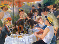 RENOIR BOATING PARTY CANVAS GICLEE ART PRINT REPRO