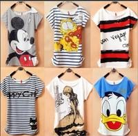 2014 New Topc 1 Mickcy Mokey T Shirt Women tees women type T-shirts Short Sleeve Quicker Shipping Women's Printed T Shirts