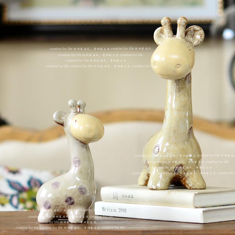 High quality ceramic home decoration accessories modern giraffe ceramic decoration(China (Mainland))
