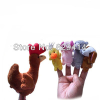 10pcs/lot Animal Shaped Cloth Finger Puppets for Baby Learning & Education The Little Red Hen #TH0530