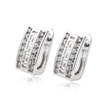 freeshipping 925 silver 925 sterling Silver stud earring  high quality 925 earring With AAA Cubic Zircon  for women GNE0914
