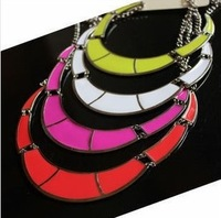 2014 New Arrival Unique Attractive Exquisite Gold Plated Chunky Choker BIb Statement Necklaces for women