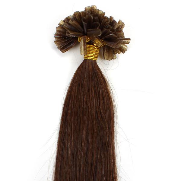 "Free Shipping retail high quality 50g straight 18"" 20"" 22"" Keratin U-Tip Nail Hair Extensions #6 0.5g/s(China (Mainland))"