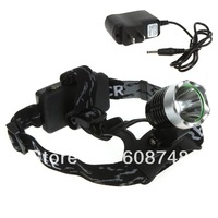 Free shipping High Power 1800LM CREE XM-L T6 LED Bicycle Camping Hiking Headlamp Headlight + Charger