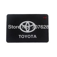 TOYOTA Car logo Non-slip Mats Dashboard Phone Mat Auto Anti-Slip Mat/ Magic Sticky Pad Non Slip Mats For Universal Car