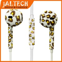 Leopard Stereo Bass Mic Volume Remote Control Earphone Headphone Free EarPods Headset For iPhone 4 4S 5 5S iPad 2 3 4 5 Air