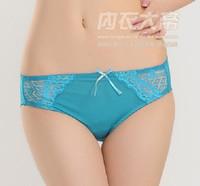 Breathable comfortable lace mid waist women's trigonometric