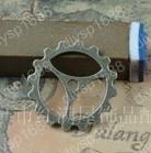 100 pcs/lot Zinc alloy bead Antique Bronze Plated Charms Pendants Fit Jewelry findings 22MM Gear Shape JJA3237