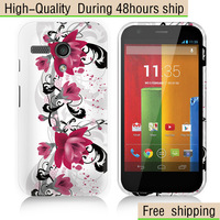 High Quality Butterfly Flower Pattern TPU Case Cover For Motorola Google Moto G Free Shipping UPS DHL EMS CPAM HKPAM