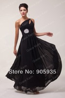 Fast Delivery! Long Back Evening Dress, One Shoulder CL6058