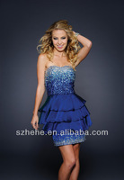 JM.Bridals Free Shipping!!! CY2099 Sparkle Shealth Beaded peplum cocktail dresses short royal blue