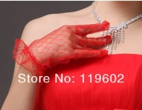 30pair/lot Hot Selling Fashion Bride Wedding Accessories Bridal Gloves Lace White/Beige Short Finger Gloves