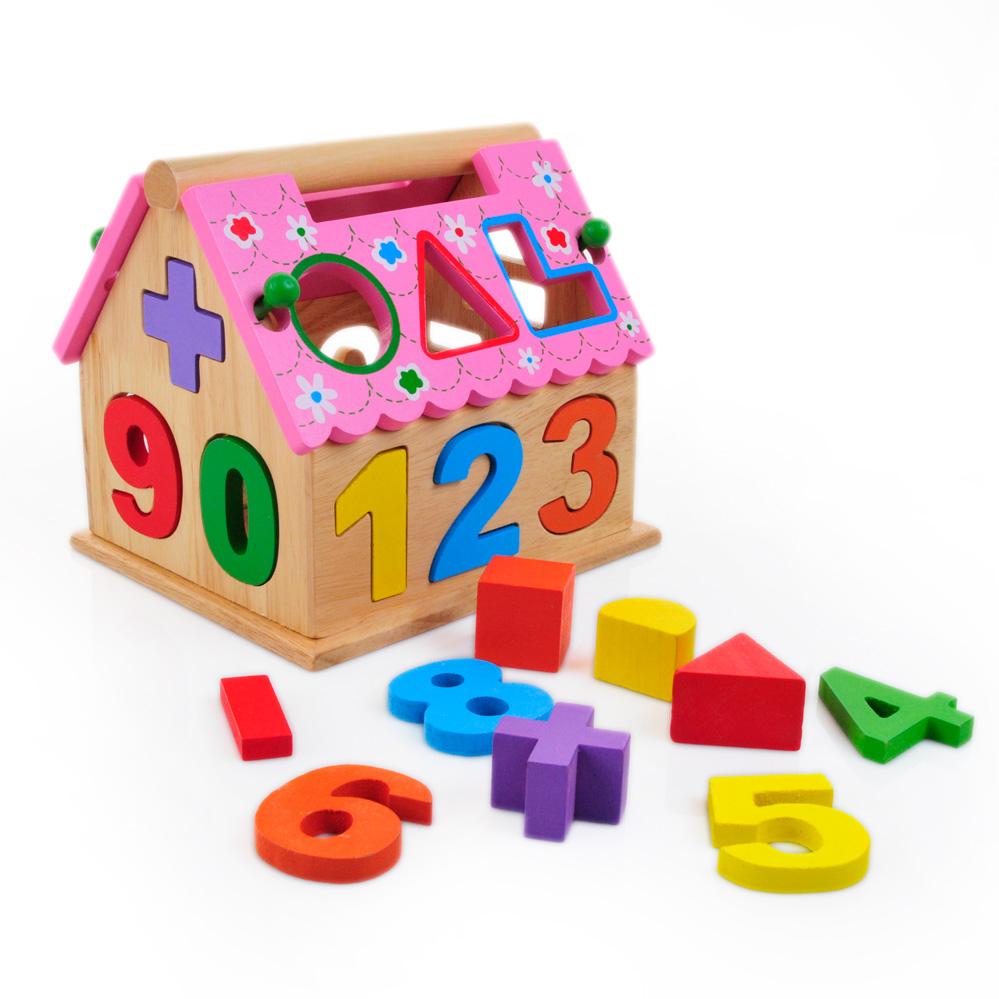 Forme géométrique fun puzzle jouet numérique boîte de couleur