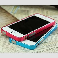 0.7mm Ultra Thin Slim Metal No Screw Bumper Case Cover For iPhone5 5G 5S Aluminum Bumper for iPhone 5 5S 5G
