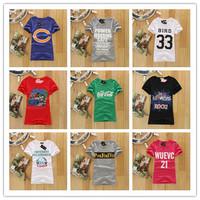2014 Newest women's t-shirts hot sale casual shirt Sport  women's shirt with O-neck 100% cotton