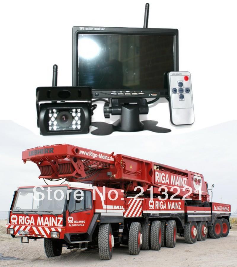 "12V 24V Wireless Car Auto Video Parking Reversing Backup Rearview 7"" LCD Monitor Camera CCTV System Truck BUS Trailer RV Crane(China (Mainland))"