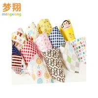 Life83 10pcs/lot Triangle bib baby 100% cotton baby bib waterproof rice pocket