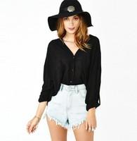 Transparent bat sleeve V-neck loose Women chiffon shirt plus size blouse sexy steetwear casual camisa tops clothing blusa