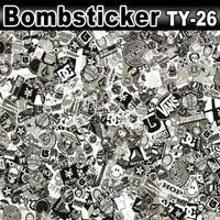 Black & White Sticker Bomb Famous Cartoon Collection Design Vinyl Sheet / Size: 1.5 x 30 Meter