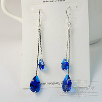 more color crystal double drops  lad's earrings (woniu152)