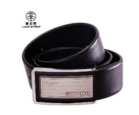 Business casual strap male genuine leather belt smooth buckle pants genuine leather fashion all-match