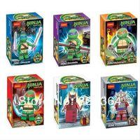 Decool DIY Teenage Mutant Ninja Turtles Minifigure Building Blocks Sets Figure  Bricks  lego compatible minifigures 6pcs/lot