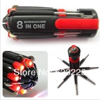 Six Lights Screwdriver Night and Day Combined,Enhanced 8-in-1 Multifunction LED Lights Screwdriver Tool Set~