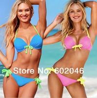 Free shipping new 2014 Vintage Bikini Women Fashion Sexy Swimsuit Ladies' Swimwear Beachwear pure swimwear women