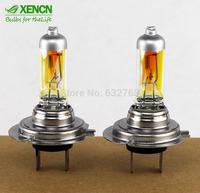 Gloden Yellow XENCN H7 12V 55W 2300K Xenon Super Yellow Light Bulbs Car Halogen High Low Beam Quality UV Filter Headlight 2PCS