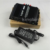 2014 new LEPAI-168 2.1 -channel mini HIFI amplifier home desk car small amplifier 40W *2 +68 W (with power supply)