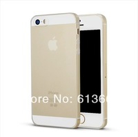 300pcs UltraThin 0.4MM TPU Gel Soft Silicone Matte Transparent Phone Cases Frosted Clear Crystal Back Cover For iphone 5 5S Case