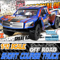 325 New 1:12 scale rc electric short course truck off road brushed truck with lipo battery 2.4GHz transmitter RTR color may vary