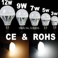 5PCS 3W/5W/7W/9W /12W LED SMD Bulb Spot Light E27 Cool White/Warm White Non-dimmable AC85-265V Lamp Lighting Epistar