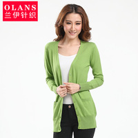 Olans autumn and winter slim medium-long sweater female cardigan sweater outerwear loose large