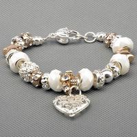 Chamilia Bracelets 925 silver bracelets for women Fine Chamilia beads charm bracelets jewelry free shipping PAN-BR031