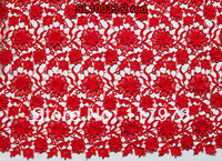 african high quality lace red flower chemical fabric of SL10033-2