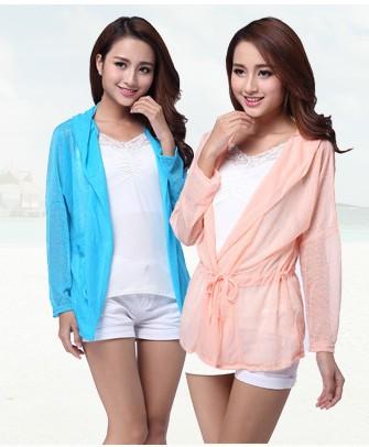 Mulheres Jacket Frete Grátis Sun Roupa de Praia Feminino Casaco Cardigan Longo Projeto Protetor solar Ar Condicionado shirt(China (Mainland))