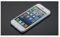 New ! Clear Ultra Thin TPU Transparent Crystal Soft Rubber case For iPhone 5.Free shipping