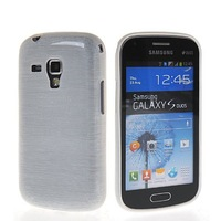 High Quality Flexible Soft Gel TPU Silicone Skin Slim Back Case Cover For Samsung Galaxy S Duos S7562