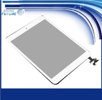 White Digitizer Touch Screen Glass Assembly Home Button Adhesive for iPad 2nd Gen free shipping