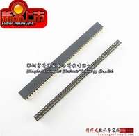 Free shipping 100PCS/LOT 2X40 Pin Double Row Female pin Header 2.54mm pitch straight Highly quality