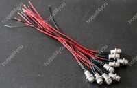 10pcs 5mm white Pre Wired Wr led 12V 20cm Bulbs Light  + Metal Led Holder Bezel Panel