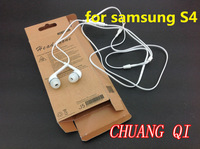 S4 100sets(100pcs white 3.5mm plug SAMSUNG earphones and headphone +100pcs retail box original) fedex