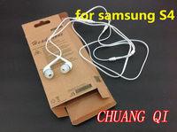 S4 100sets(100pcs white 3.5mm plug for SAMSUNG earphones and headphone +100pcs retail box ) fedex