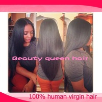 High quality u part wig human hair & glueless full lace wig virgin hair in stock