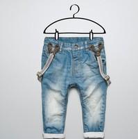 Retail Free shipping. new fashion Boy Bib Girl jeans baby boys child  brand jeans