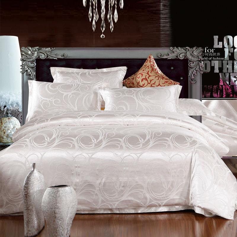 Bedding set / Bedclothes /Jacquard Cotton Satin/Noble Silk Bedding/ High Quality/4 PCS Bedding sets/Bed Sheet/Free shipping/B010(China (Mainland))
